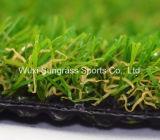 Hierba artificial, hierba del jardín, hierba del césped, hilado sintetizado de la hierba