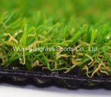 Herbe artificielle, herbe de jardin, herbe de pelouse, filé synthétique d'herbe