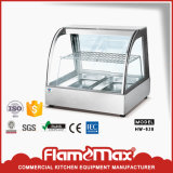 Riscaldatore di vetro di /Curved del riscaldatore dell'acciaio inossidabile dello scaldavivande Hw-838 con 2-Pans