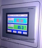 Temperatura e umidade climáticas da câmara do teste