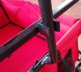 屋外おおいの庭の実用的な旅行折りたたみカートが付いている折るワゴン