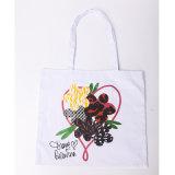 海軍しまのある綿のキャンバスの生態学的なキャンバス袋のトートバックのショッピング・バッグ