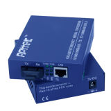 конвертер средств волокна 20KM 10/100/1000M однорежимный одиночный