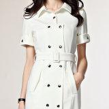 Новое платье офиса повелительниц женщин Ol способа одевает тонкое белое официально платье