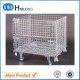 Rodas do rolo do carro da gaiola do armazém de armazenamento de Cagecontainer do engranzamento de fio