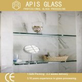 3mm- 12mm Clear / Colored Tempered Shelving Glass with Round Polished Edge