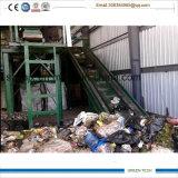 Haushalts-Abfall, der Maschine, städtischer Abfall-Abfallverwertungsanlageaufbereitet