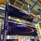 Korn-Transportband-Förderwerk-im Freien Auswirkung-Platte flaches Gummi-GUMMIHDPE tragen StahlEdelstahl-Abflussrinne verschobene hängende Rückholrolle wiegen Spannrolle