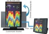 10 affissione a cristalli liquidi Fishing Finder di pollice TFT di Doppio-Frequency