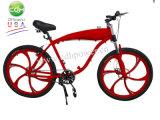 ガスタンクの構築されたフレームおよびMagの車輪が付いている自転車