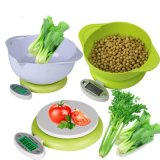 5kg/1g Digital Nahrungsmittelküche-Schuppen-elektronischer Diät-Ausgleich mit Filterglocke