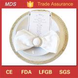 새로운 결혼식 다이아몬드 미러 유리제 충전기 격판덮개