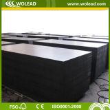 18mm*1250mm*2500m m Hot Sale Black Film Faced Plywood para Shuttering (w15097)