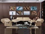 Moderner Entwurfs-Leder-Sofa (C743)