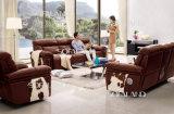 Sofa en cuir italien de Recliner de Brown par électrique pour la maison