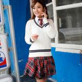 Camisola da farda da escola, projeto elevado japonês da farda da escola de Customerized