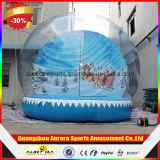 Globo gonfiabile della neve di natale, cupola gonfiabile della neve per natale