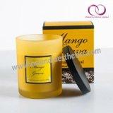 Heißer Verkaufs-natürliche wesentliches Öl-Sojabohnenöl-Wachs-bereiftes Glas-duftende Kerze