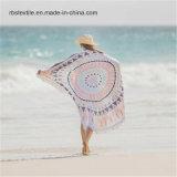 綿のベロアの印刷の高品質の円形のビーチタオル