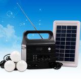 Diodo emissor de luz portátil que ilumina o sistema de energia solar com USB/TF