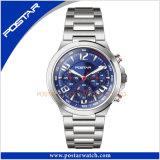 La montre de chronographe méritent avec le cadran de bleu de mouvement du Japon