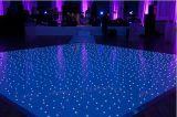 2017 neue 2*2FT weißer u. schwarzer Acrylstern LED Dance Floor für Hochzeit