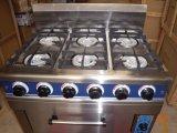 intervallo di gas economico 6-Burner con il forno di gas per la cucina (HGR-6G)