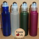 rodillo de cristal ambarino 10ml en la botella de perfume con el rodillo del metal