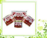 pasta de tomate do saquinho de 70g Almudish com o Purty 100%