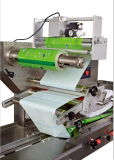 Sami-Automatic Film Bag Wrapping Sealing와 Cutting Flow Food Packaging Machine