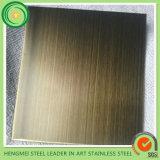 316 chapa de aço inoxidável de bronze de 304 linhas finas com preço barato