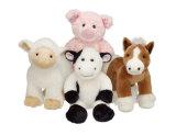 Brinquedo feito sob encomenda enchido feito fábrica do luxuoso dos animais da vaca nenhum mínimo