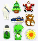 Mecanismo impulsor del flash del USB del regalo de la Navidad, memoria de encargo del USB del PVC, palillo encantador promocional del USB de la historieta