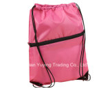 bunter Nylonbeutel-Rucksack des drawstring-210d mit kundenspezifischem Drucken