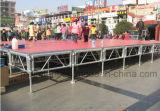 1.22X1.22m (4ftx4FT) Estrutura de alumínio Easy-Assembled Dancing Stage