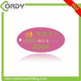 Le jeton d'IDENTIFICATION RF étiquette l'étiquette époxy de NFC avec une corde