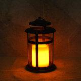 Remotesteuerrunde Kerze-Laterne mit flammenlosem LED-Licht