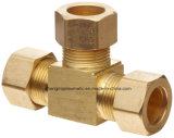 Ajustage de précision de tube en laiton de compactage en métal, union, té