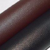 Escuro - couro de imitação vermelho do plutônio de Brown, couro de sapata do falso