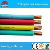 Fio isolado PVC do núcleo do fio elétrico único