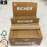 Una marca de fábrica de encargo más rica Brown papel de balanceo del tabaquismo de 14 G/M