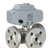 Válvula de esfera de Multiport do aço de molde do aço inoxidável de ASME