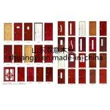 Prijs van de fabriek paste Binnenlandse Houten Deur PVC/MDF aan