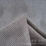 Tissu en nylon de Pettern Cutted des graines de velours côtelé pour l'usage décoratif