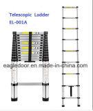 Aluminiumjobstep-Strichleiter, die weich teleskopische Strichleiter (EL-001A, schließt)