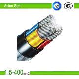4 cable de transmisión acorazado de aluminio de la base Al/Cu/XLPE/Swa/Sta/PVC