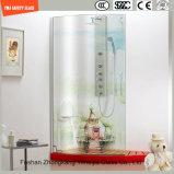impresión del Silkscreen de la pintura de Digitaces de la imagen de la historieta de 3-19m m/vidrio templado/endurecido del grabado de pistas del modelo ácido de la seguridad para la pantalla de ducha /Bathroom con SGCC/Ce&CCC&ISO