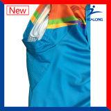 T-shirts bon marché faits sur commande de dessus de polo de tennis de femmes de Healong Subliamtion