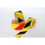 LDPEの赤くおよび白いプラスチック安全警告テープ