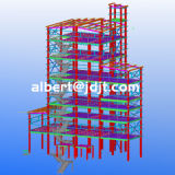 Armazém/oficina/hangar/fábrica industriais Prefab da construção de aço da instalação rápida do Quatro-Assoalho